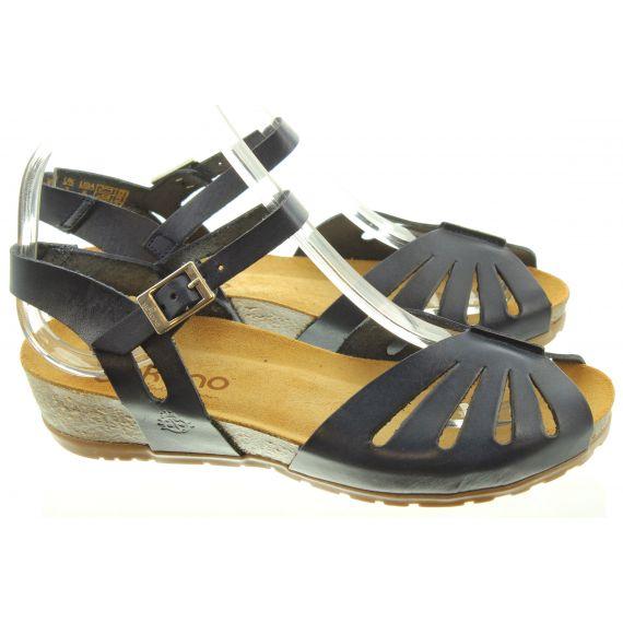 YOKONO Ladies 071 Capri Sandals In Navy