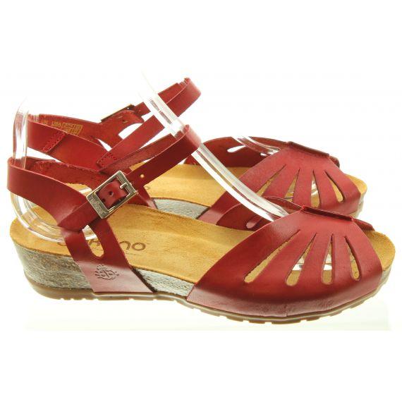 YOKONO Ladies 071 Capri Sandals In Red