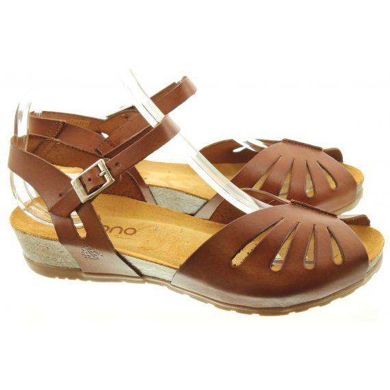 YOKONO Ladies 071 Capri Sandals In Tan