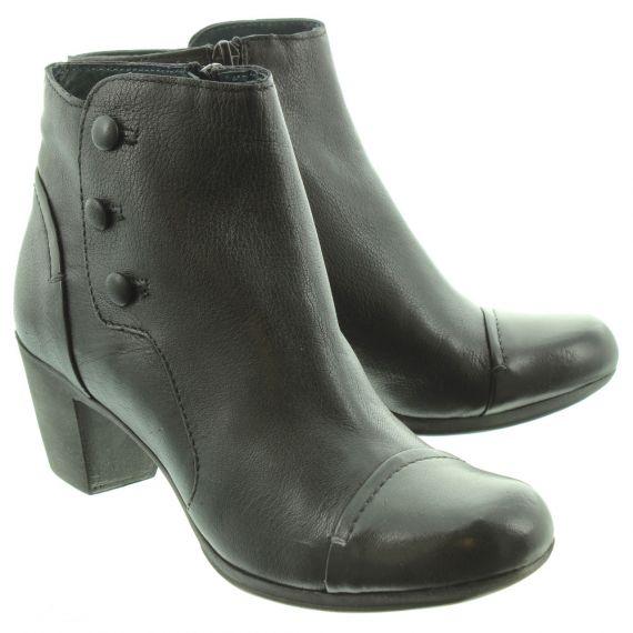 KHRIO Ladies 1103 Heel Ankle Boots In Black