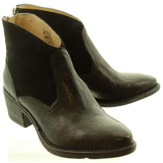 KHRIO Ladies 11060 Cowboy Boots In Black