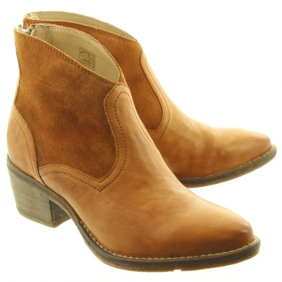KHRIO Ladies 11060 Cowboy Boots In Tan