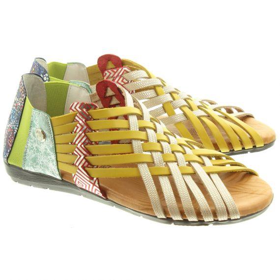 TRISOLES Ladies 1224 Weave Sandals In Multicoloured