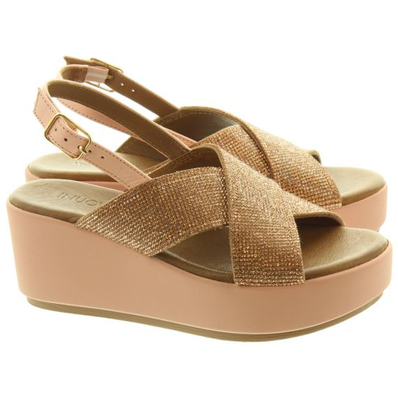INUOVO Ladies 123005 Diamante Sandals In Blush