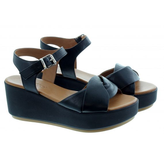 INUOVO Ladies 123041 Wedge Sandals In Black