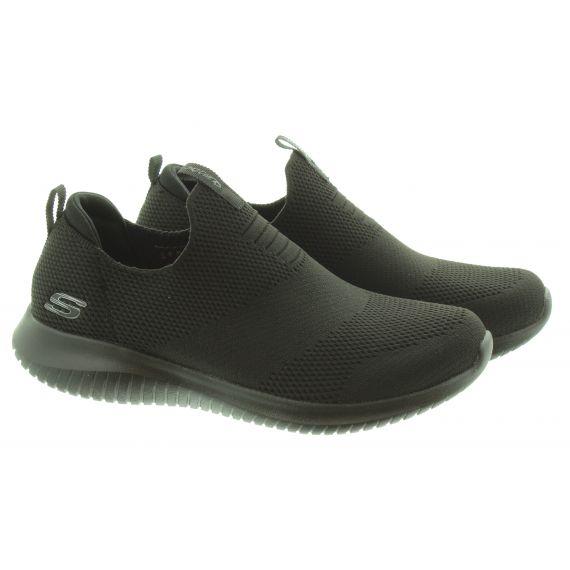 SKECHERS Ladies 128237 Ultra Flex Shoes In All Black