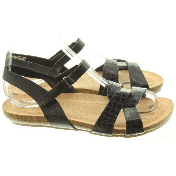 YOKONO Ladies 132 Ibiza Flat Sandals In Black