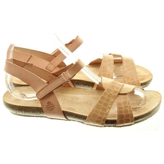 YOKONO Ladies 132 Ibiza Flat Sandals In Nude