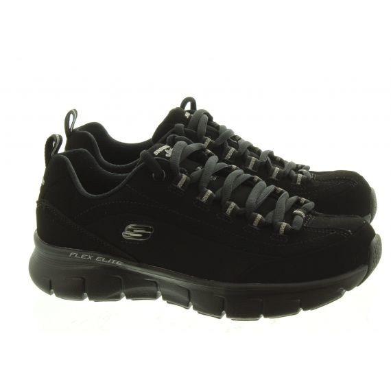 SKECHERS Ladies 13261 Lace Trainers In Black