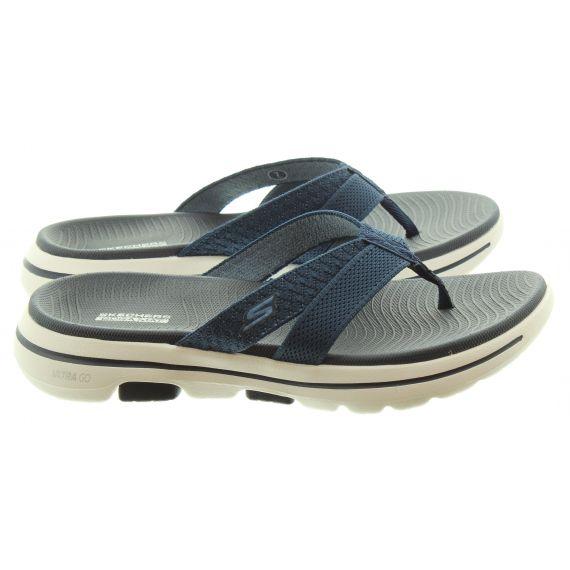 SKECHERS Ladies 140085 GOWalk 5 Toe Post Sandals In Navy