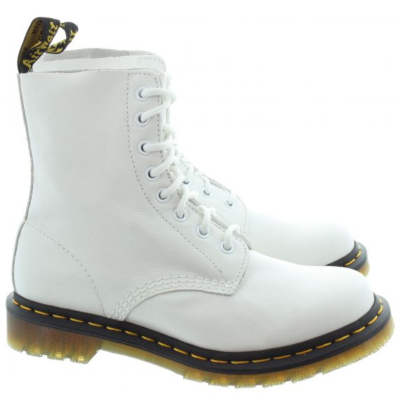 DR MARTENS Ladies 1460 Pascal Virginia Boots In Off White