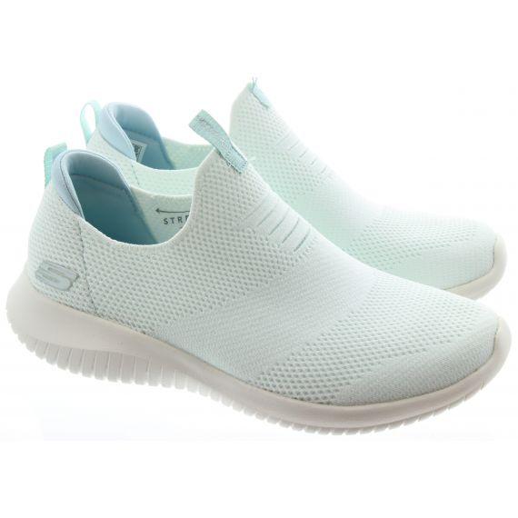 SKECHERS Ladies 149047 Ultra Flex Trainers in White