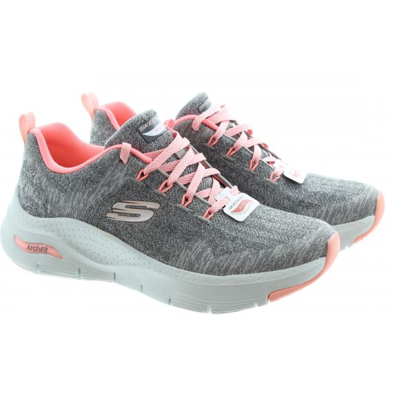 SKECHERS Ladies 149414 Arch Fit Trainers In Grey Pink