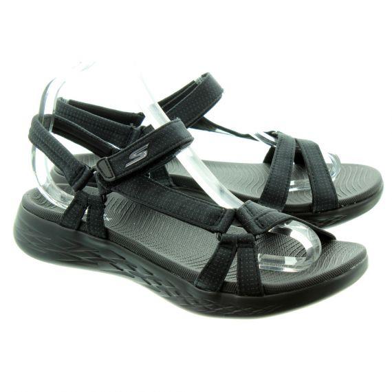 SKECHERS Ladies 15316 Sandals In Black