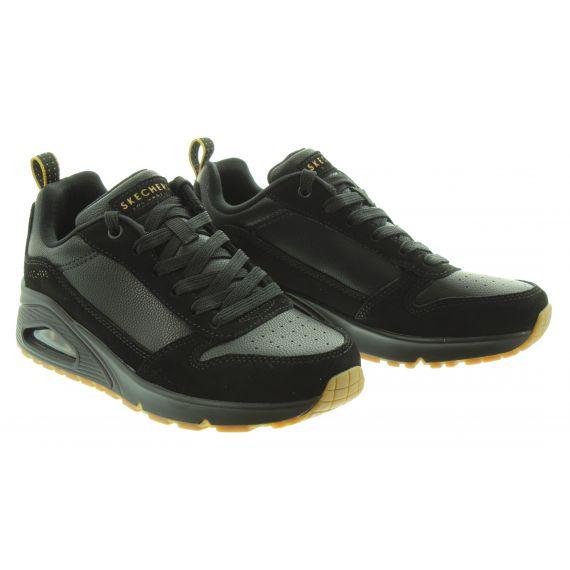 SKECHERS Ladies 155132 Uno Wedge in Black/Black