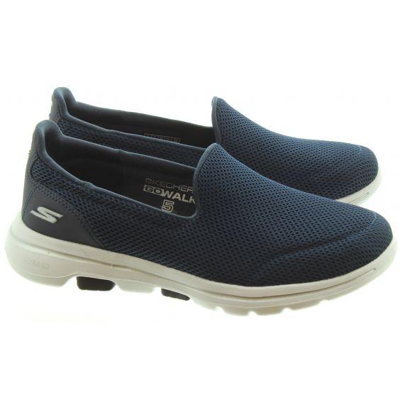 SKECHERS Ladies 15901 Go Walk 5 Shoes In Navy
