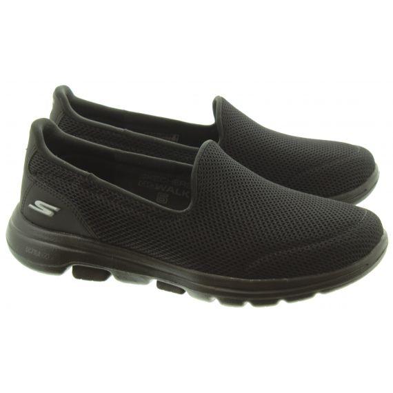 SKECHERS Ladies 15901 Go Walk5 Shoes In Black