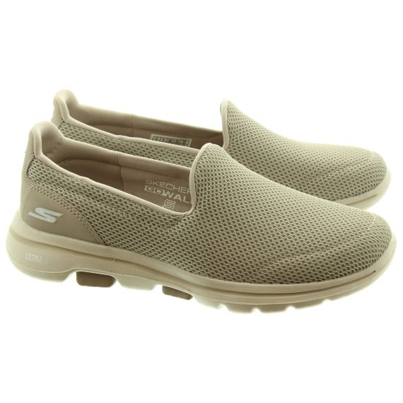 SKECHERS Ladies 15901 Go Walk5 Shoes In Taupe