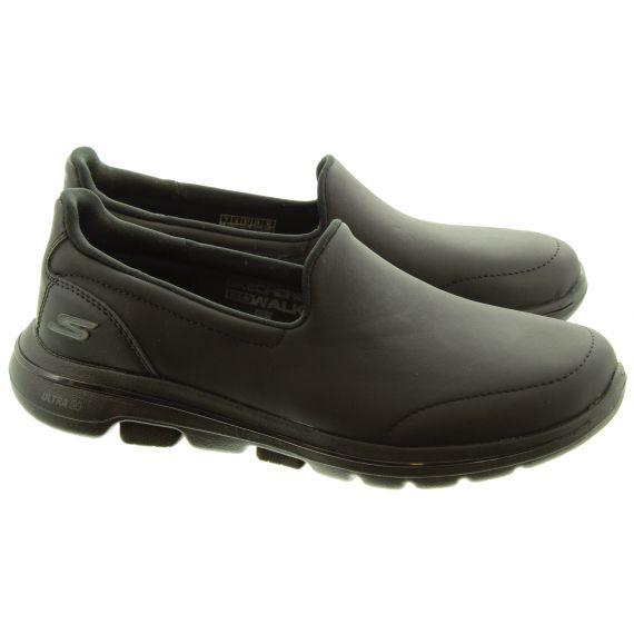 SKECHERS Ladies 15923 Go Walk5 Shoes In All Black