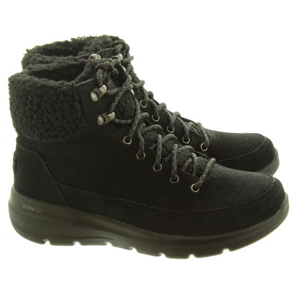 SKECHERS Ladies 16677 Ankle Boots In Black