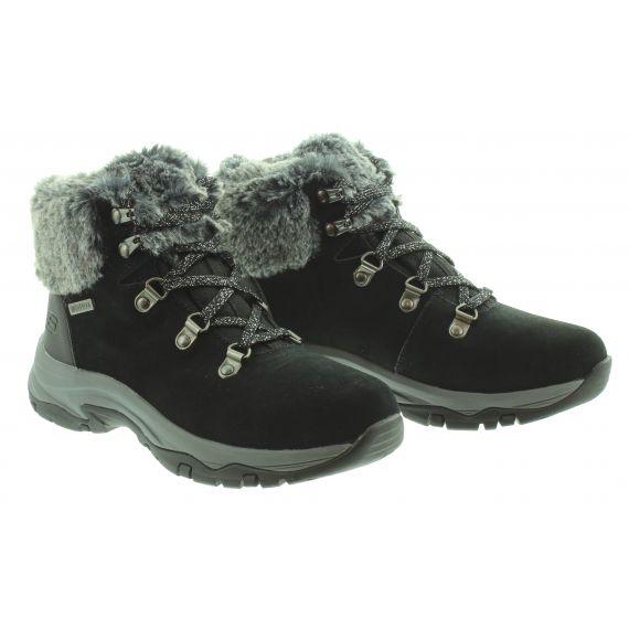 SKECHERS Ladies 167178 Waterproof Lace Boots In Black