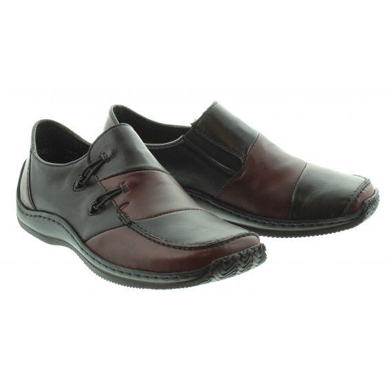 RIEKER Ladies 1762 Flat Loafer in Black Multi