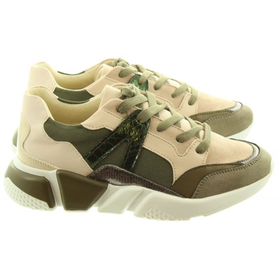 VANESSA_WU Ladies 2001 Lace Trainers In Khaki