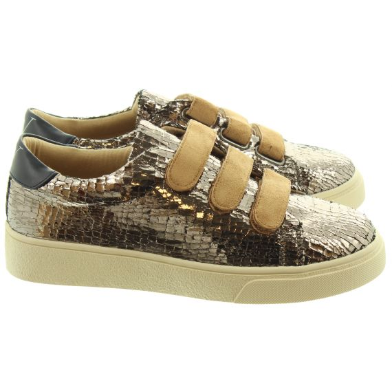 VANESSA WU Ladies 2006 Velcro Trainers In Pewter