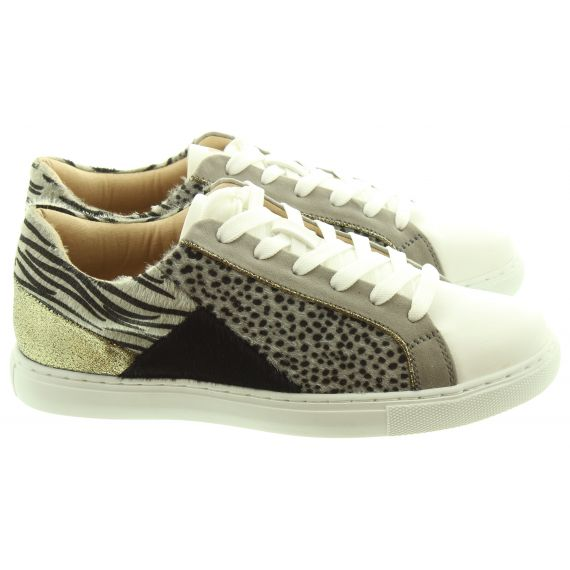 VANESSA WU Ladies 2011 Leopard Trainers In Grey