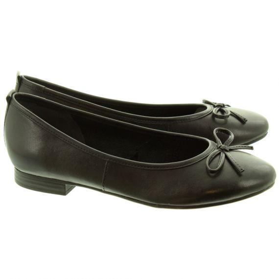 TAMARIS Ladies 22114 Ballerina Shoes In Black