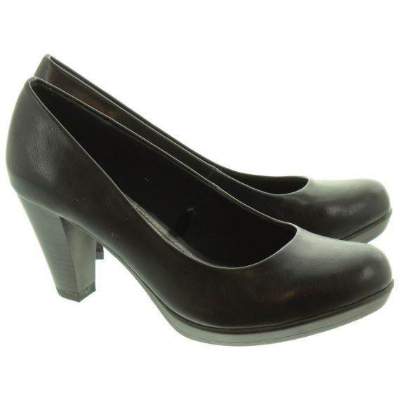 MARCO TOZZI Ladies 22407 Heel Shoes In Black