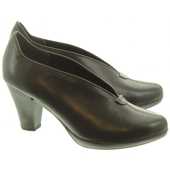 MARCO TOZZI Ladies 22412 Wedge Court Shoes In Black