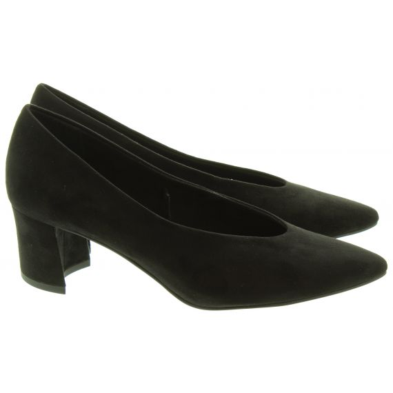 MARCO TOZZI Ladies 22416 Court Shoes In Black Suede