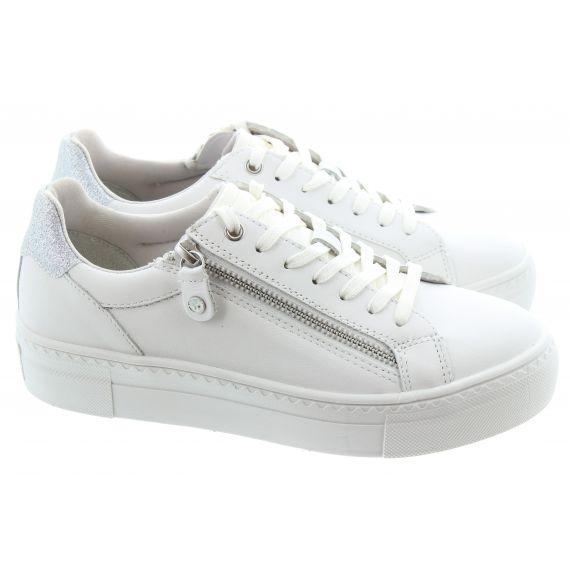 TAMARIS Ladies 23312 Zip Trainer in White