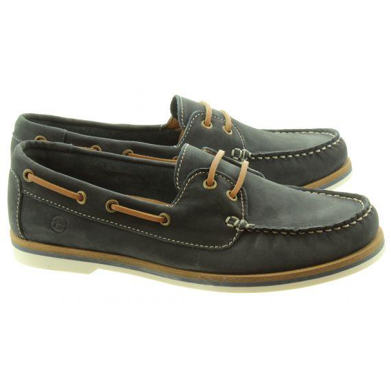 TAMARIS Ladies 23616 Boat Shoes In Navy