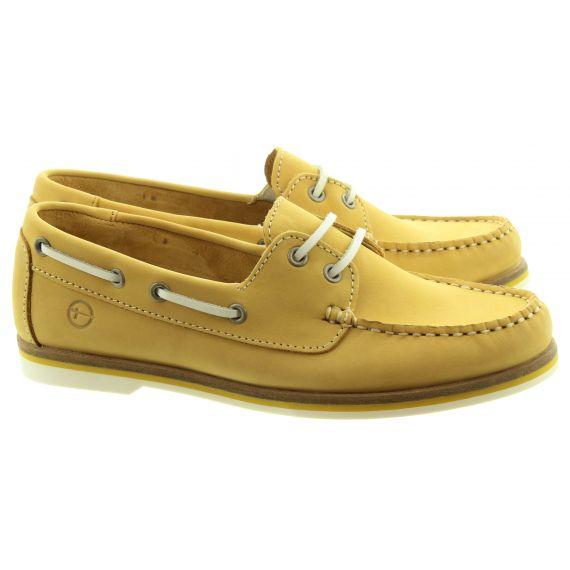 TAMARIS Ladies 23616 Boat Shoes In Yellow
