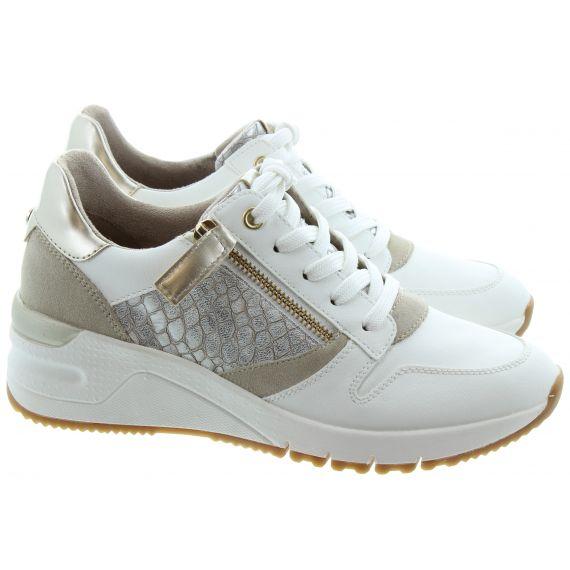 TAMARIS Ladies 23702 Wedge Trainer in White