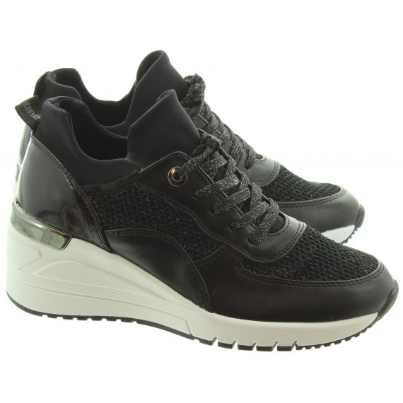 MARCO_TOZZI Ladies 23744 Wedge Trainers In Black