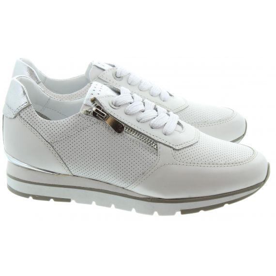 MARCO_TOZZI Ladies 23757 Zip Wedge Trainer in White
