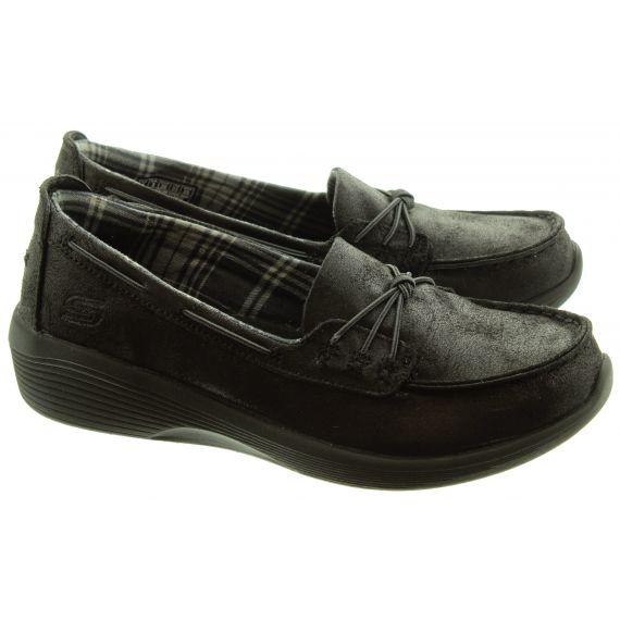 SKECHERS Ladies 23763 Flat Shoes In Black