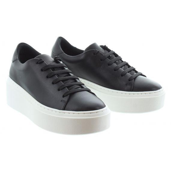 TAMARIS Ladies 23773 Flatform Trainer in Black