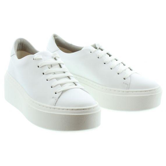 TAMARIS Ladies 23773 Flatform Trainer in White