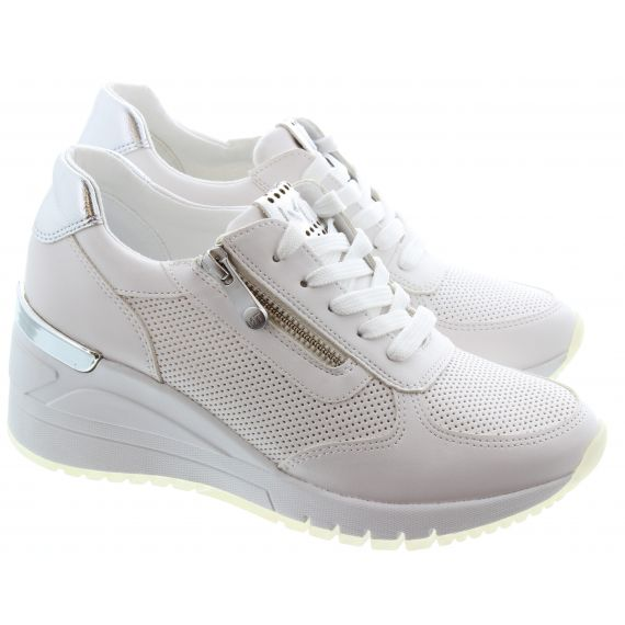 MARCO_TOZZI Ladies 23787 Wedge Trainer in White