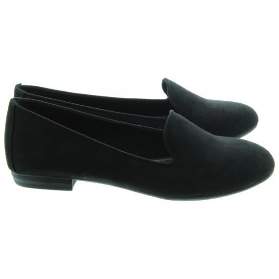 MARCO TOZZI Ladies 24235 Flat Shoes In Black