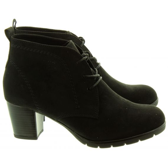MARCO TOZZI Ladies 25107 Heel Lace Boots In Black