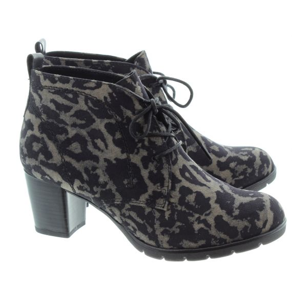 MARCO TOZZI Ladies 25107 Heel Lace Boots In Leopard
