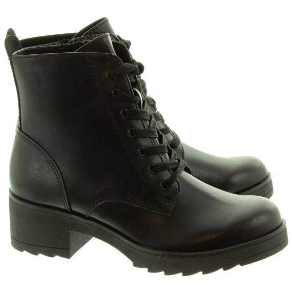 MARCO_TOZZI Ladies 25262 Lace Ankle Boots In Black