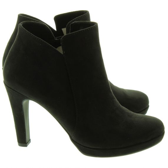 TAMARIS Ladies 25316 Heeled Ankle Boots In Black