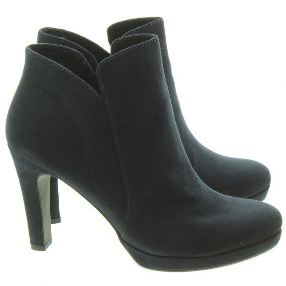 TAMARIS Ladies 25316 Heeled Ankle Boots In Navy