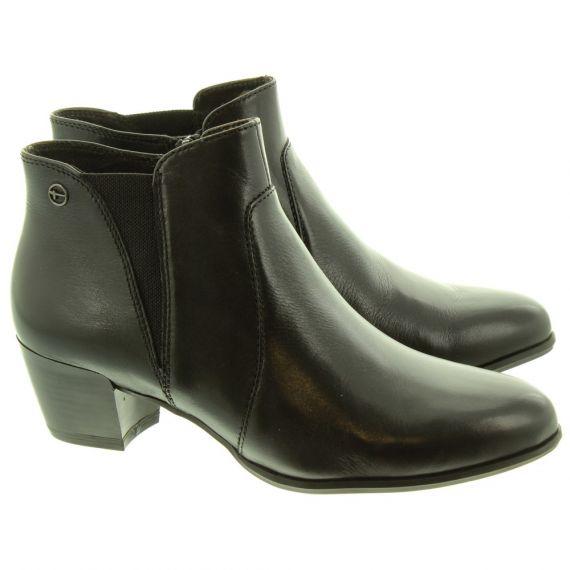TAMARIS Ladies 25353 Heeled Ankle Boots In Black